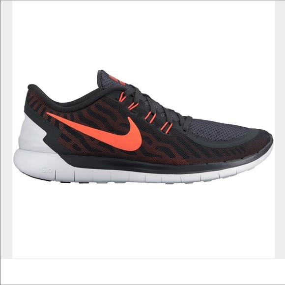 New Men's Nike free 5.0 sneakers black and red